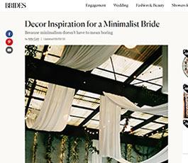 Brides August 2018 minimalist bride