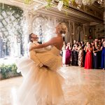 Groom lifting Bride First Dance